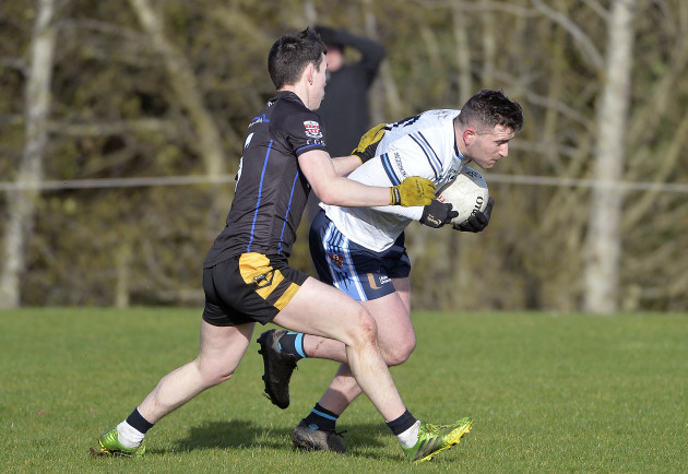 Paddy McBrearty in action with Shane O'Malley
