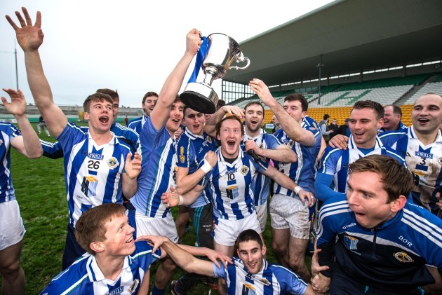 Ballyboden St Enda's players celebrate with the cup