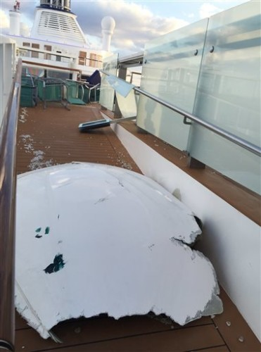 Cruise ship damage