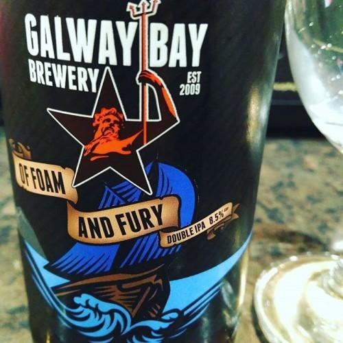 Of Foam and Fury Double IPA 8.5% 10/10 #galwaybaybrewery #offoamandfury #ireland #beersofinstagram #beerporn #doubleipa #galway #craftbeer