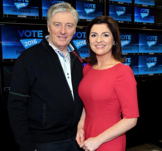 Pat Kenny and Colette Fitzpatrick pictured today a