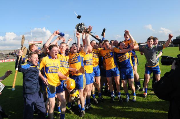The Sixmilebridge team celebrate winning