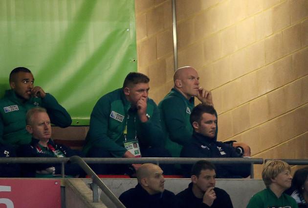 IrelandÕs Paul O'Connell watches the match