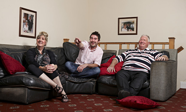 Linda, George and Pete Gilbey, stars of Channel 4's Gogglebox