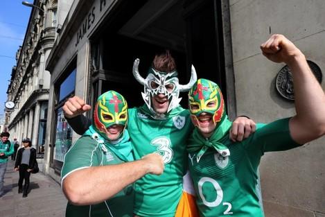 Irish fans before the match