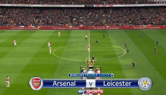 Arsenal Leicester Kick off