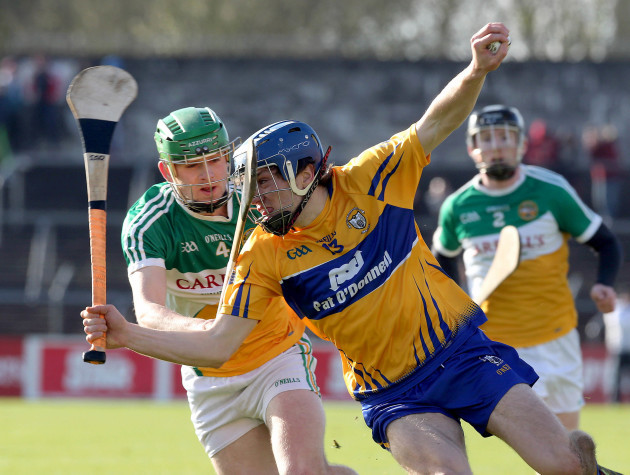Shane O'Donnell tackled by Paddy Rigney