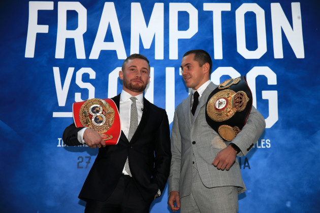 Carl Frampton v Scott Quigg Press Conference - Park Plaza Riverbank