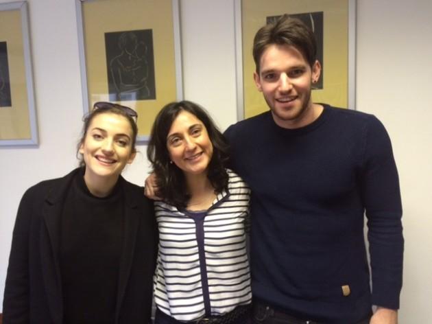 India Mullen(Katie), Beatrice Cronin (Treoir) and Adam Weafer (David)