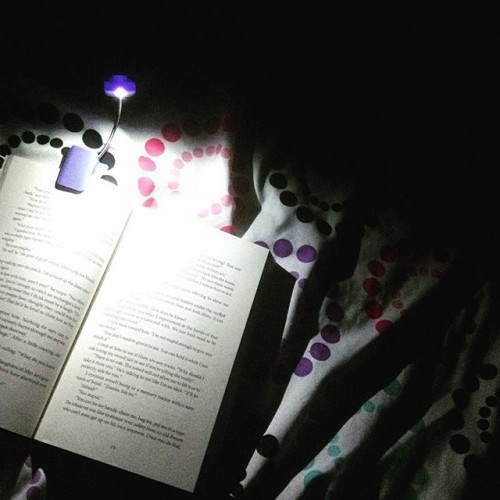 Finally got this book light for only $4!!! Totally worth it!! :) #booklight #booklover #bookstagram #perfect #night #book #readinginthedark #finally #love