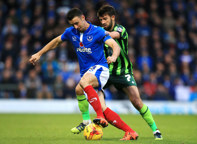 Portsmouth v AFC Wimbledon - Sky Bet League Two - Fratton Park
