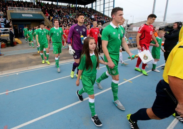 Darragh Lenihan leads out his team
