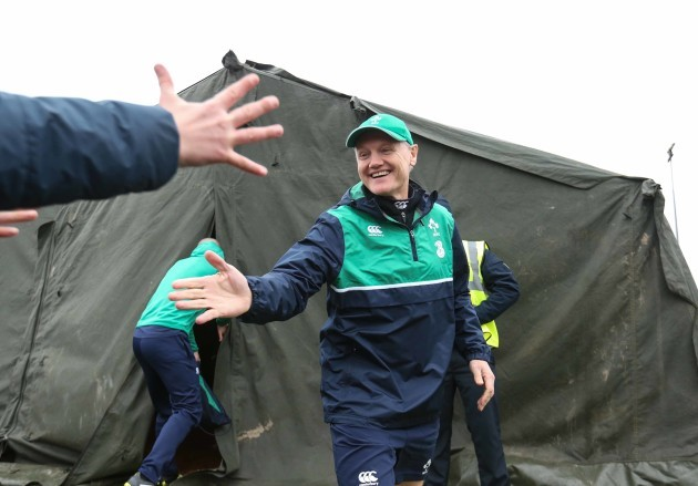 Joe Schmidt greets fans