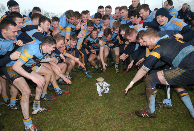 The UCD team celebrate winning the Sigerson Cup