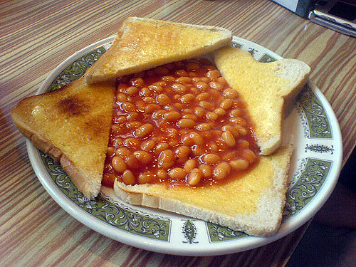 Baked Beans on Toast at Cafe Maria, Dalry Road, Edinburgh