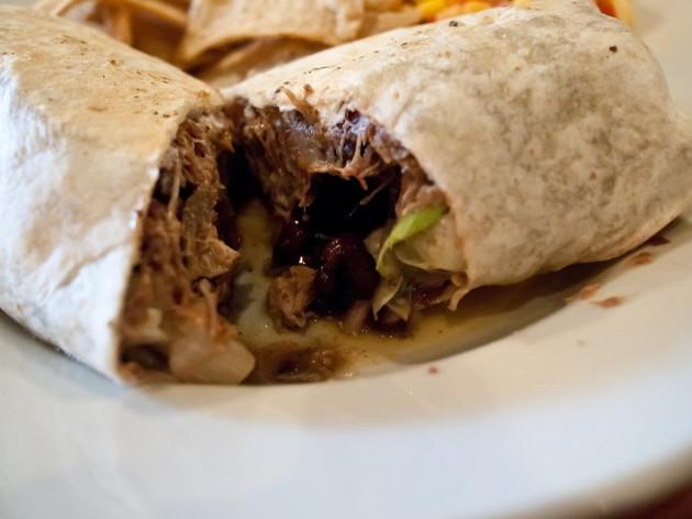 The Feve Brunch - cuban pork burrito