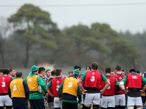 Ireland team regroup during training