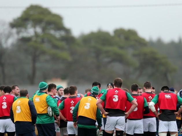 Ireland team regroup during training