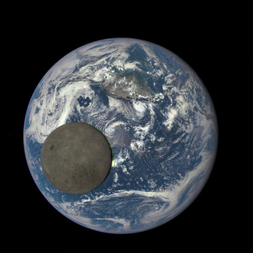 From a Million Miles Away, NASA Camera Shows Moon Crossing Face of Earth