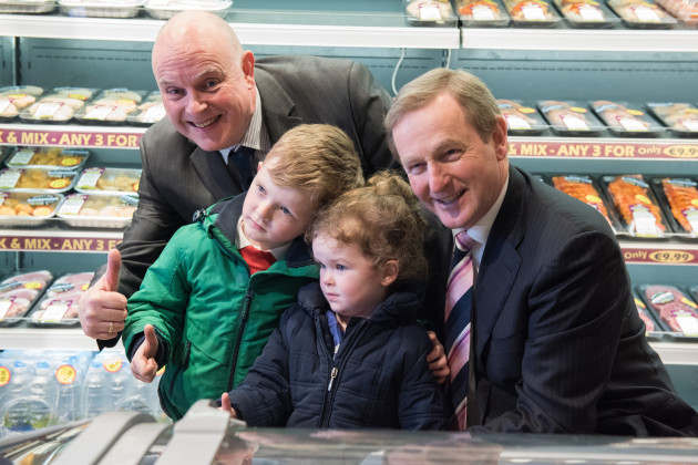 Taoiseach Enda Kenny on a visit to Trim,County Meath
