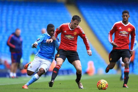 Manchester City U21 v Manchester United U21 - Barclays U21 Premier League - Etihad Stadium