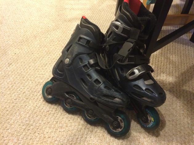 Goodbye, old rollerblades