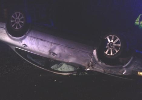 overturned car - 1