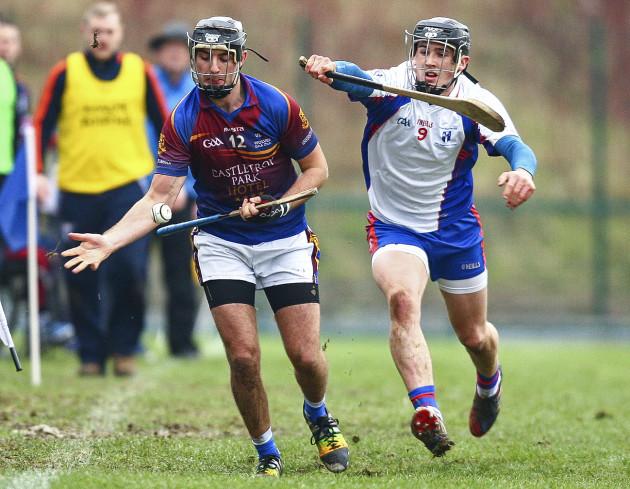 Conor Martin in action against Darragh O'Donovan