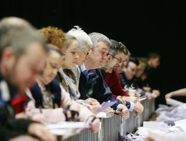 27/2/2016. General Election 2016 - Counting of Vot
