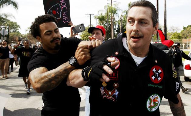 KKK Protest-Stabbing