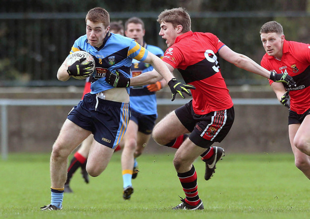Barry O'Sullivan gets past Ian Maguire