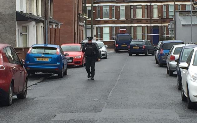 Device detonation in Belfast