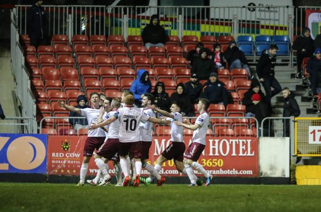 John Sullivan celebrates his goal
