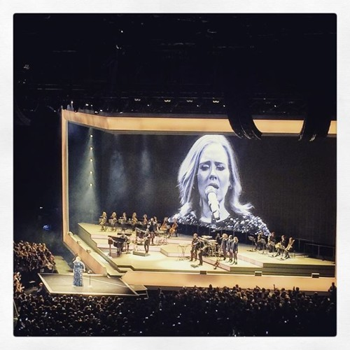 Beautiful stage. Classic and simple to showcase such talent. #adeledublin