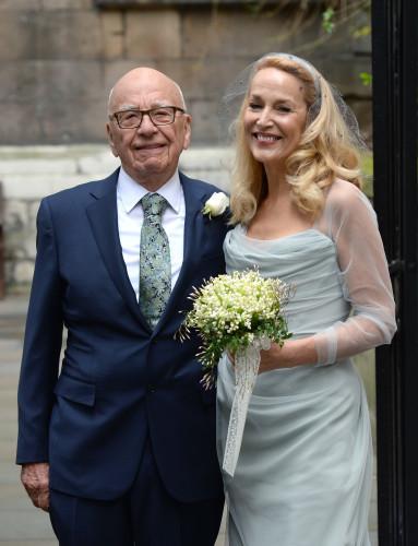 Rupert Murdoch and Jerry Hall wedding