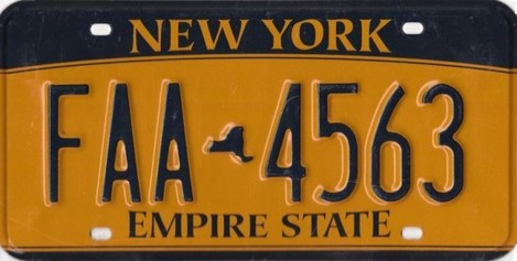New_York_Empire_Gold_License_Plate