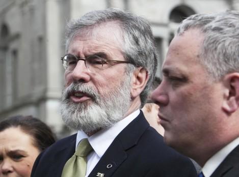 08/02/2016. Pictured (L to R) Sinn Fein President
