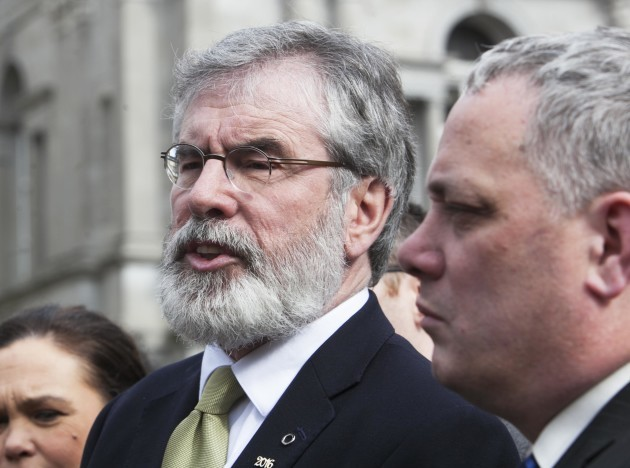 08/02/2016. Pictured (L to R) Sinn Fein President