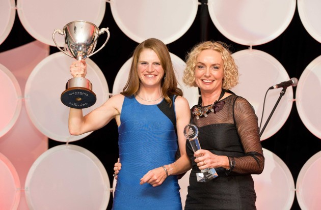 Eimear Mullan, Athlete of the Year winner with Anne O'Leary, Vodafone Ireland CEO