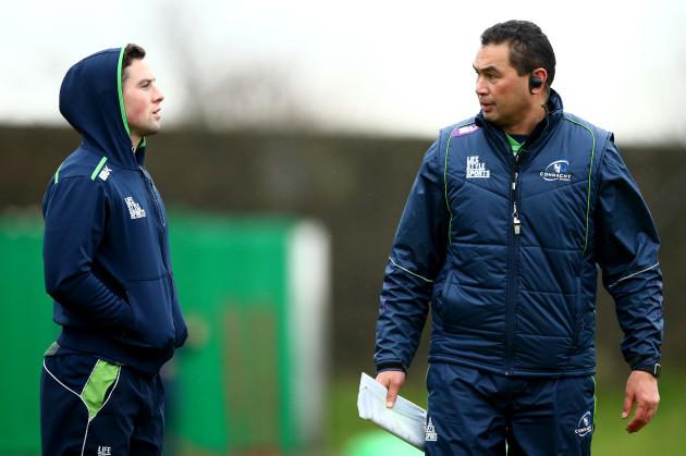 John Cooney and head coach Pat Lam