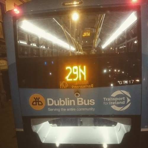 Getting home never seemed so good. It's cold out there! #Dublin #nitelink #dublinbus #homewardbound #readyforbed #gettingold #42N