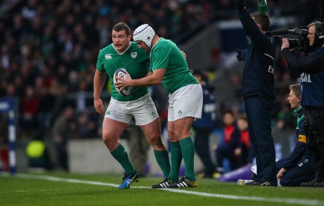 Ireland's Jack McGrath and Rory Best