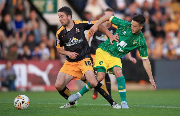 Soccer - Pre Season Friendly - Cambridge United v Norwich City - Abbey Stadium