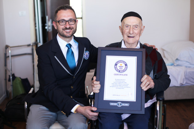 Guinness World Records announces new Oldest man - Israel Kristal