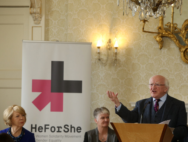 11/3/2016. HeforShe and MAN UP Campaign. Pictured