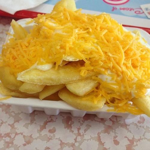 Garlic cheese chips, an Irish delicacy