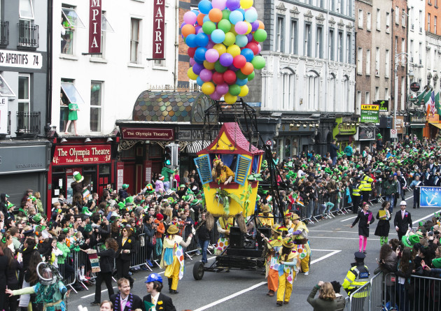 17/3/2016. Saint Patricks Day Parades Festivals
