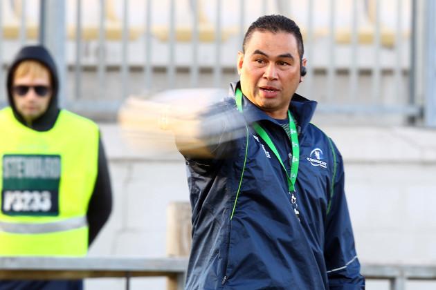 Pat Lam before the game