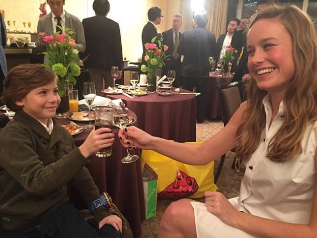 28 weeks ago(according to Instagram) @roomthemovie premiered at the #telluridefilmfestival. After the screening @jacobtremblay and I toasted. He had chocolate milk and I had red wine. I remember feeling so vulnerable after sharing this movie with the world for the first time; unsure of what was to come. Last night marked what may be our final toast to this film . He had a soda and I had sake. We are in Japan. Together we have traveled the globe, spent almost two years hanging out, playfully arguing about things like who can hold their breath longer and talking at length about Room. At its core, every step of the way has been taken with love. We were generous and patient with each other. We laughed a lot, especially when it was hard. We picked each other up, answered for the other when one was tired and always kept silliness alive. Thank you Room for bringing us together. Thank you Room for uniting us with the rest of the world. Thank you to everyone who shared this journey with us. I will never ever forget it.
