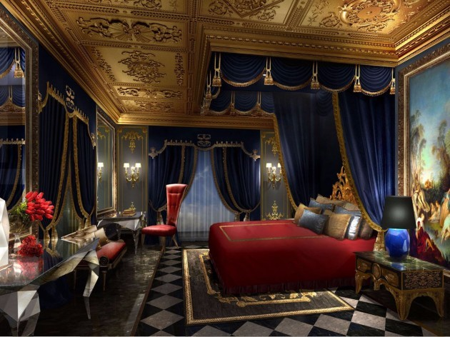 the-royal-bedroom-includes-a-king-sized-bed-complete-with-a-velvet-canopy-each-villa-comes-with-24-hour-butler-service-and-additional-amenities-include-a-private-luxury-shopping-area-and-complimentary-airport-transfers-vi